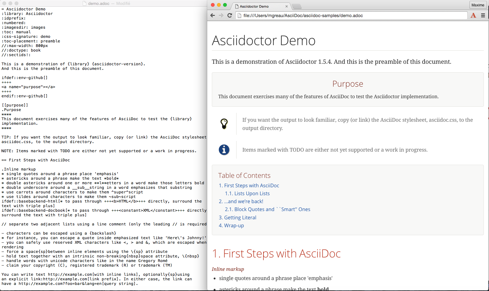 Chrome Asciidoctor.js Live Preview